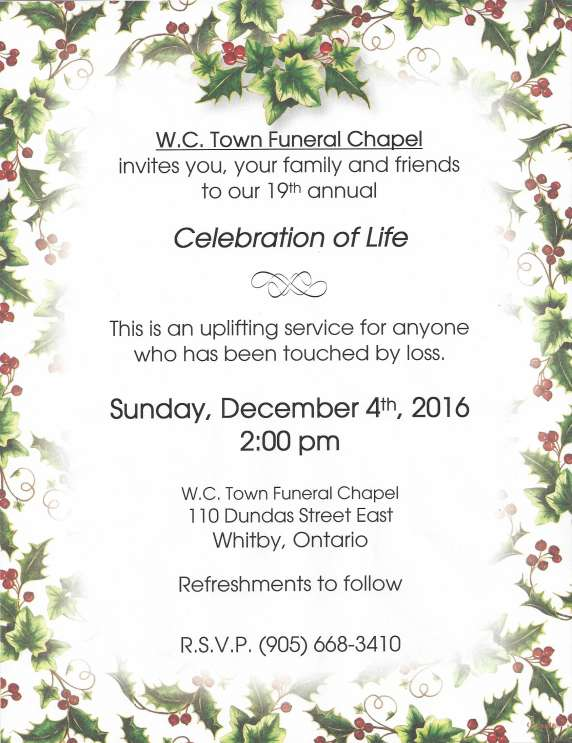 Annual Celebration of Life